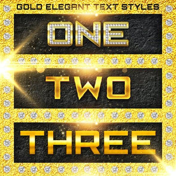 Gold Metal Elegant Text Styles