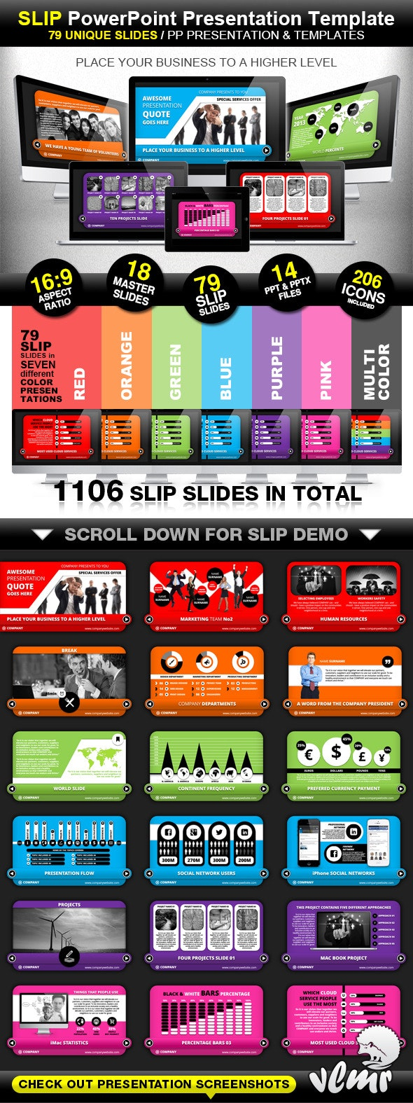 Slip Company PowerPoint Presentation Template - Business PowerPoint Templates