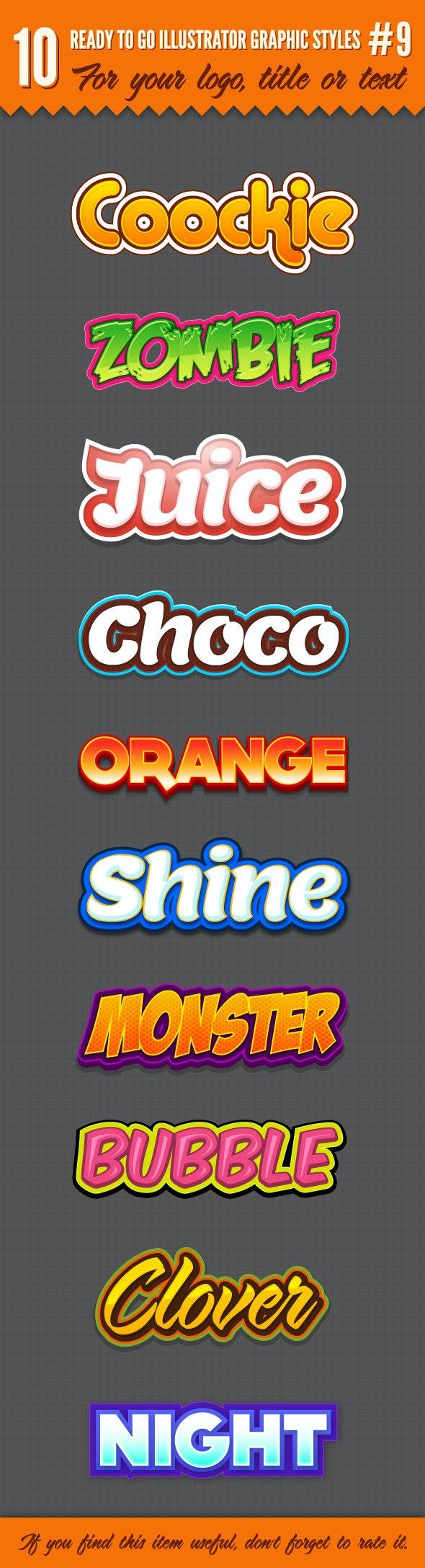 10 Logo Graphic Styles #9 - Styles Illustrator