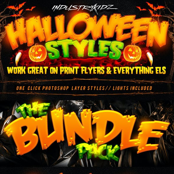 Halloween Photoshop Layer Styles Bundle