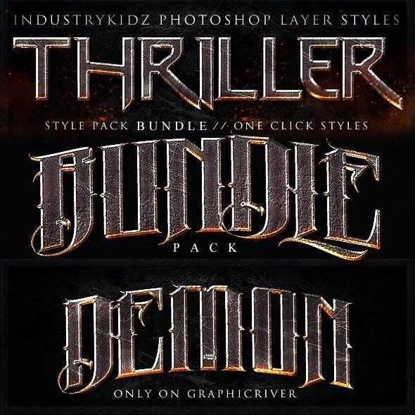 Thriller Photoshop Layer Styles Bundle