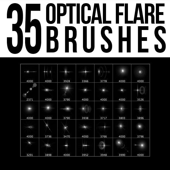 35 Optical Flare Brushes