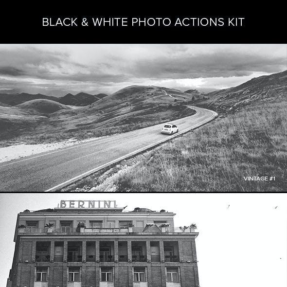 Black & White Photo Actions Kit