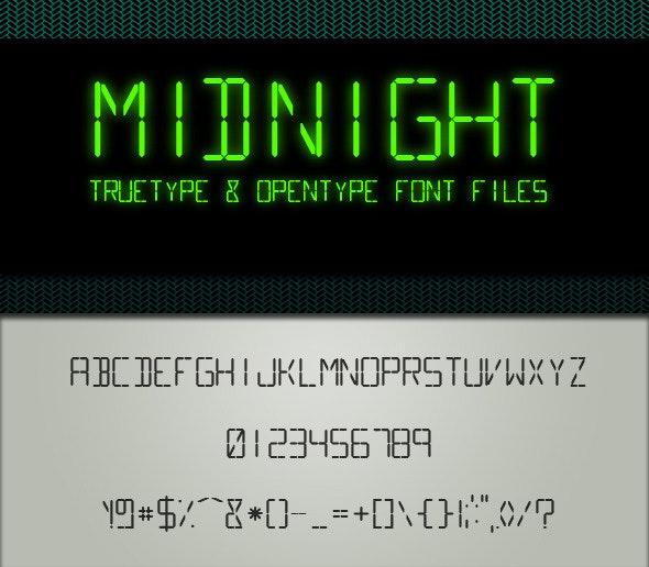 Midnight - Fonts