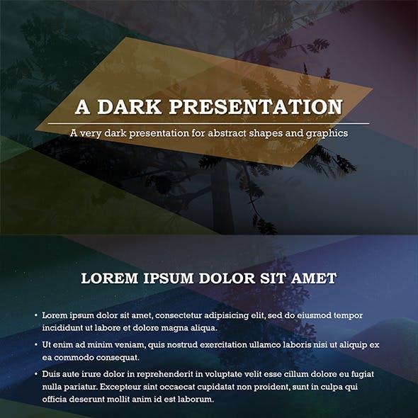 Abstract Dark PowerPoint Template