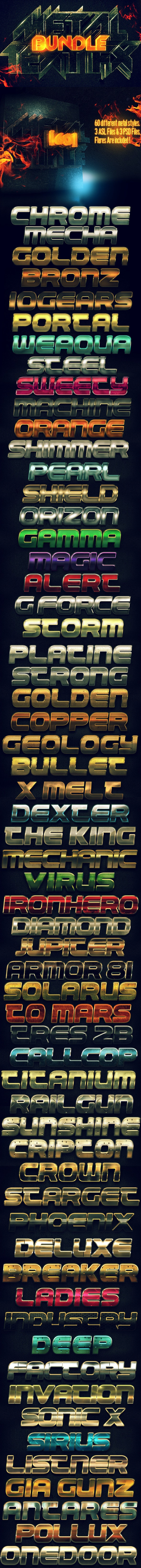 Metal Text FX BUNDLE - Text Effects Styles