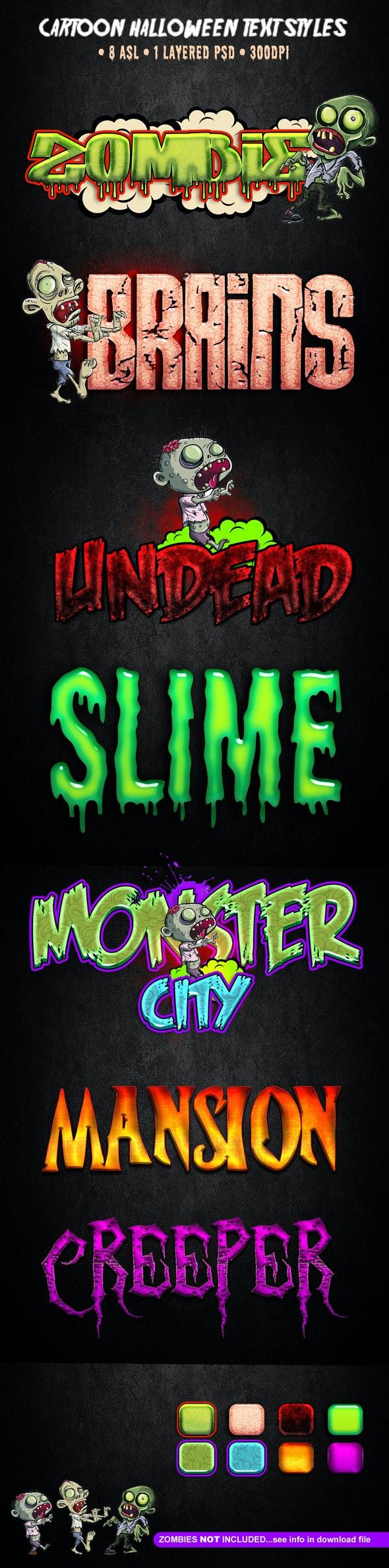 Cartoon Halloween Text Styles - Text Effects Styles