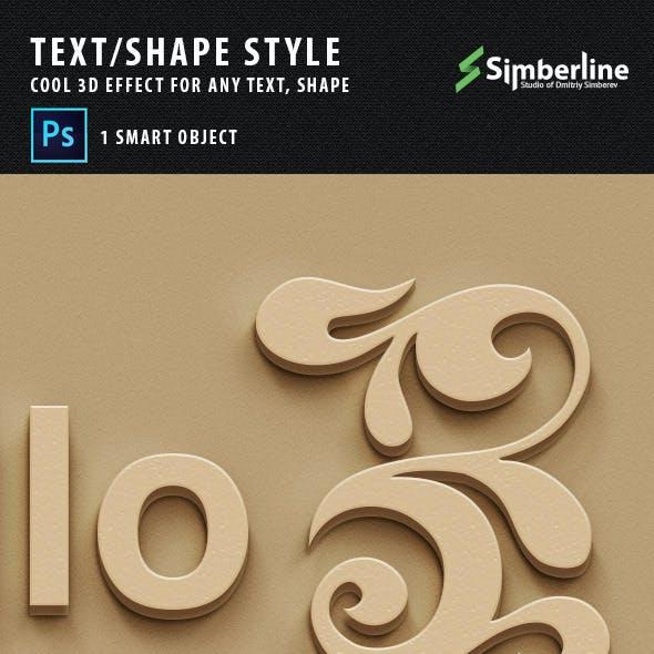 Text / Shape 3D Style