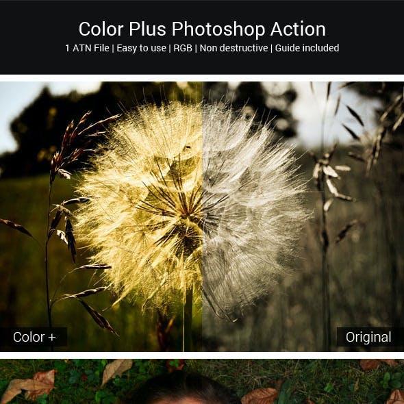 Color Plus Photoshop Action