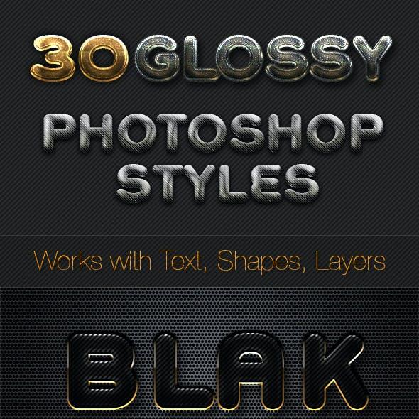 Metallic Chrome Gold steel - Photoshop Styles