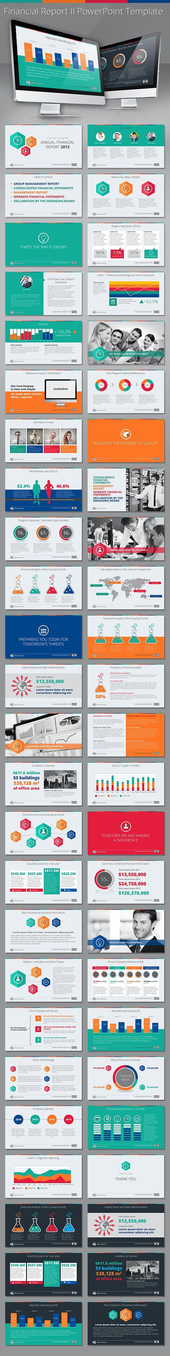 Financial Report II HD PowerPoint Template - Presentation Templates