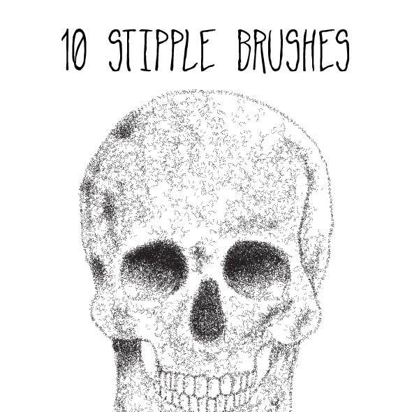 10 Stipple Brushes
