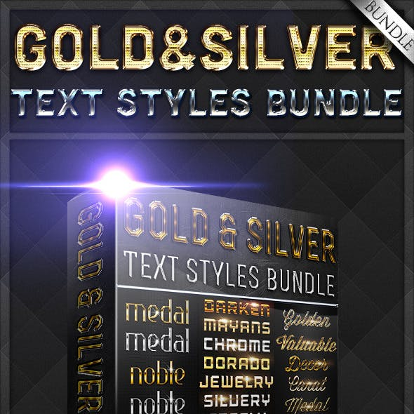 Gold & Silver Text Styles Bundle