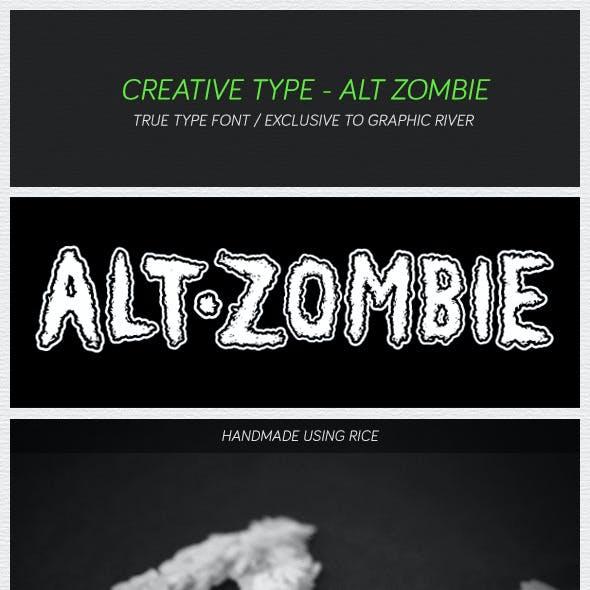 Alt Zombie Font