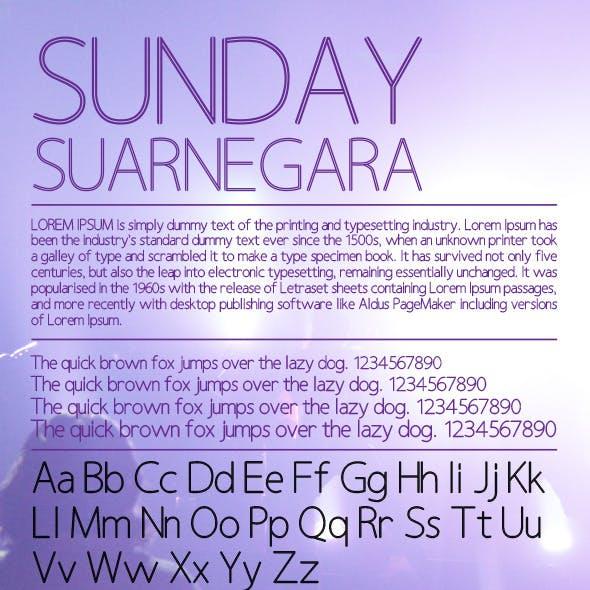 Sunday Suarnegara Font