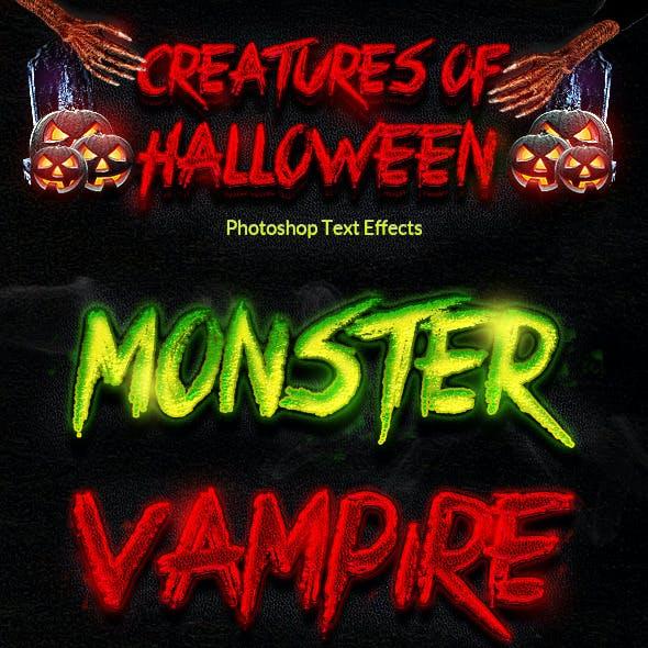 Creatures of Halloween Text Effects