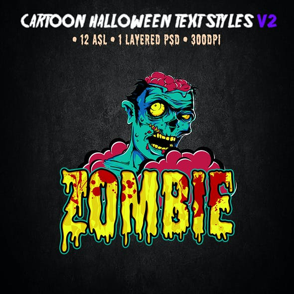 Cartoon Halloween Text Effect V2