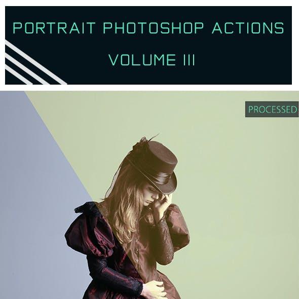 Portrait Photoshop Actions Vol. III