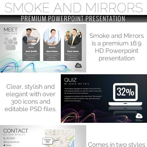 Smoke and Mirrors Powerpoint Presentation