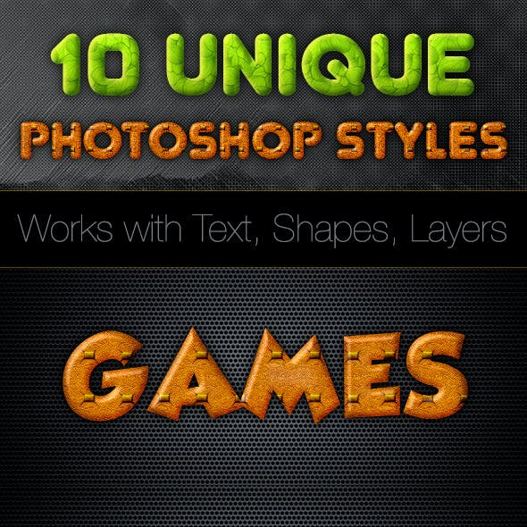 10 Colorful Photoshop Styles