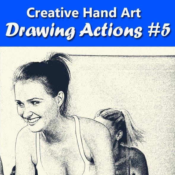 Creative Hand Art Drawing 5