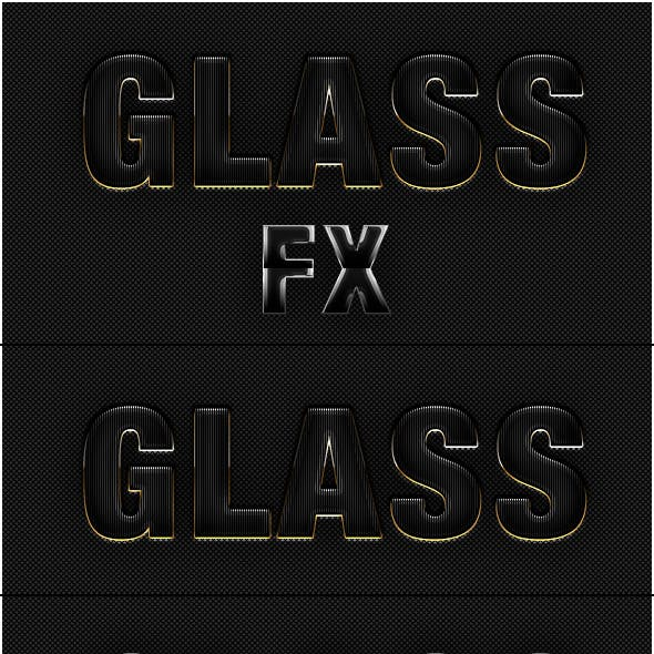 5 Glass Text Effect Photoshop Style