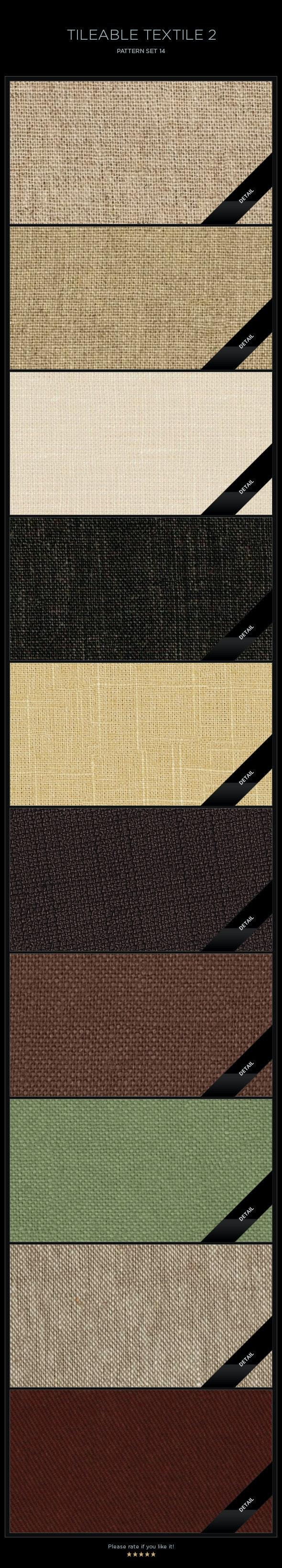 10 Tileable Textile-2 Textures/Patterns - Miscellaneous Textures / Fills / Patterns