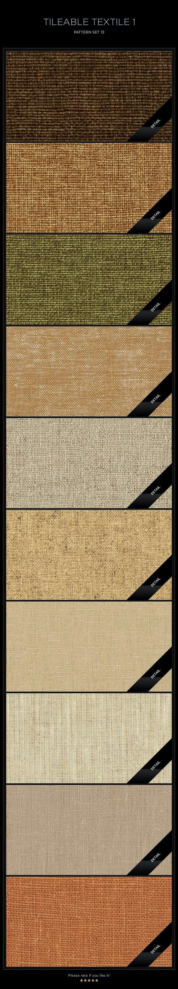 10 Tileable Textile-1 Textures/Patterns - Miscellaneous Textures / Fills / Patterns