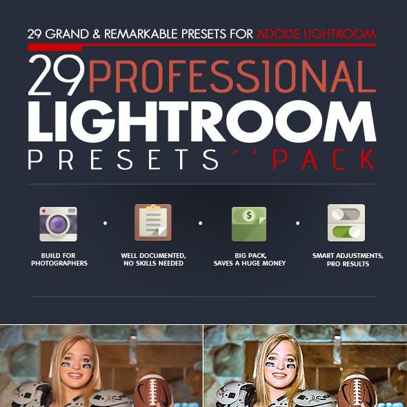 29 Professional Lightroom Presets Pack - V.01