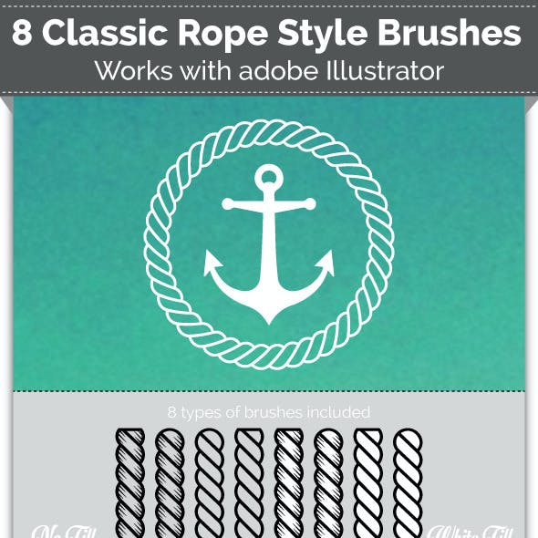 8 Nautical Rope Brushes