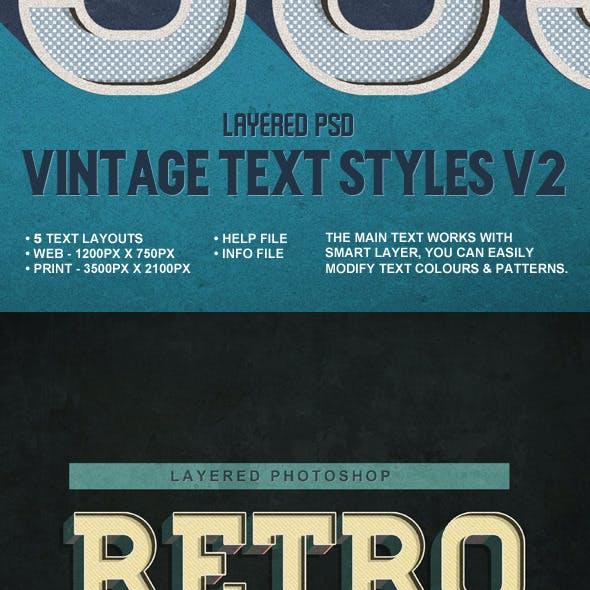 Vintage Text Styles v2