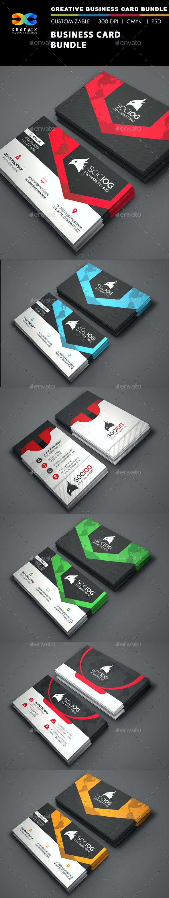 Business Card Bundle 3 in 1-Vol 42 - Corporate Business Cards