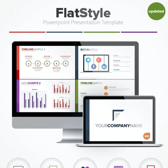 Flat Style Powerpoint Presentation Template