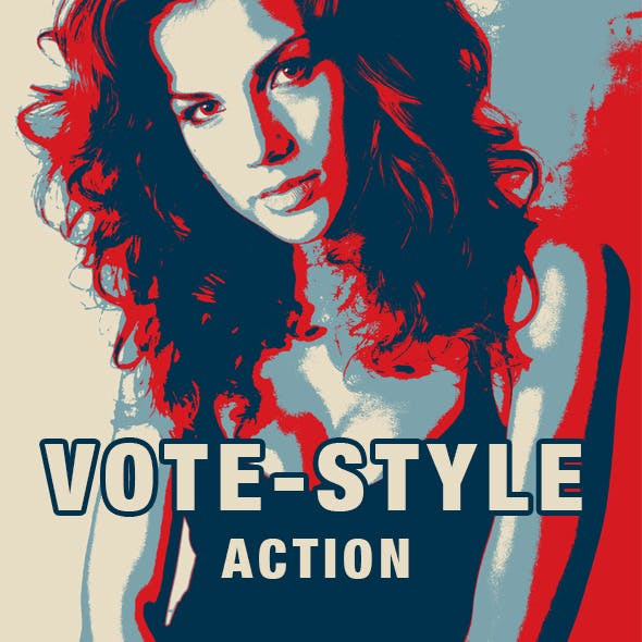 Vote-style Photoshop Action