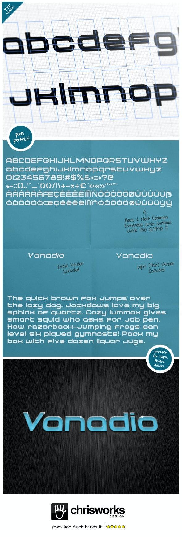 Vanadio - Fonts