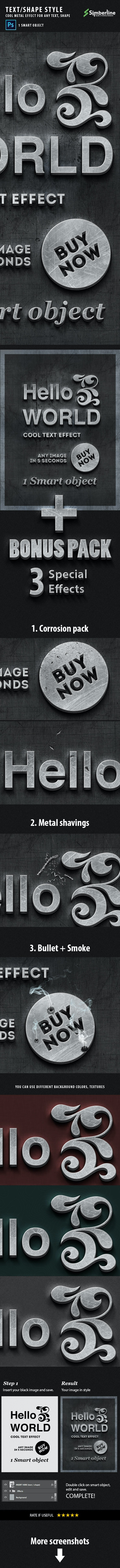 Metal Style - Smart Template - Text Effects Styles