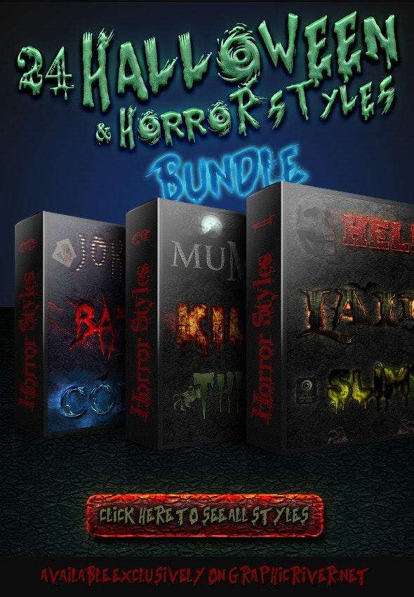 Halloween And Horror Styles - Bundle - Styles Photoshop