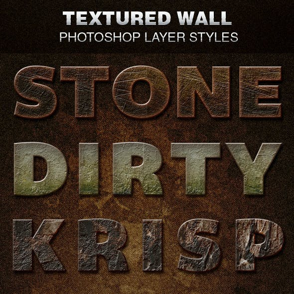 Textured Wall Photoshop Layer Styles