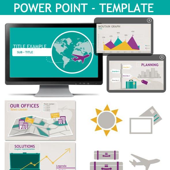 Powerpoint Presentation Template Travel