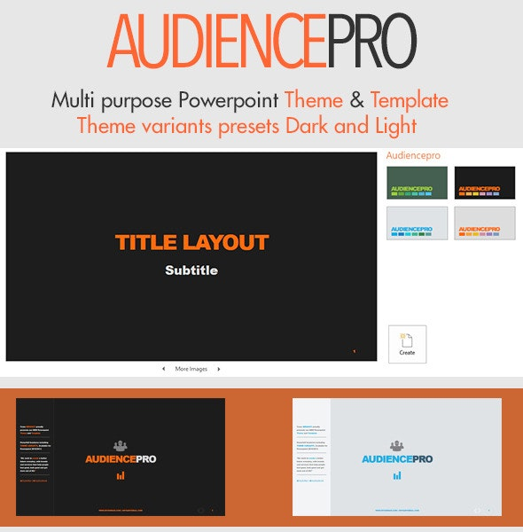 Audiencepro - Powerpoint Theme and Template - Business PowerPoint Templates