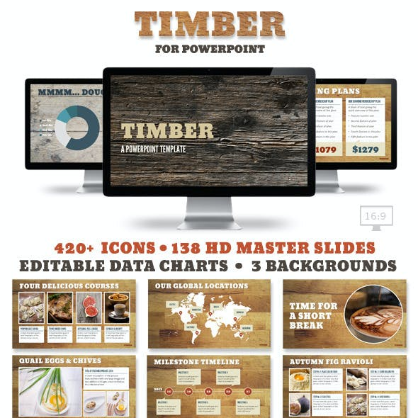 Timber Powerpoint Presentation Templates
