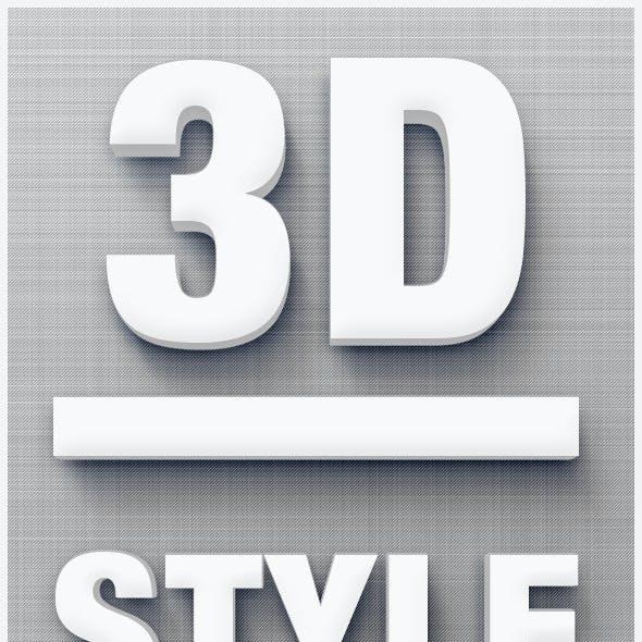 3D Style 3D Text Creator