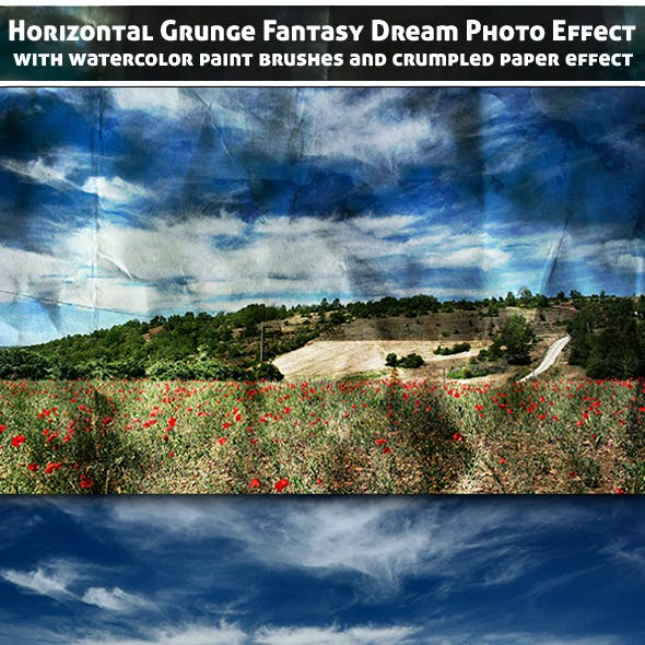Horizontal Grunge Fantasy Dream Photo Effect