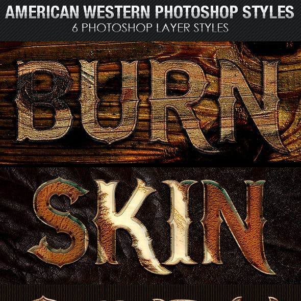 American Western Photoshop Layer Styles