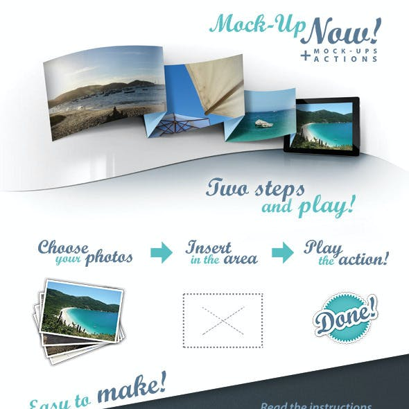 Mock-up Tablet Actions PSD