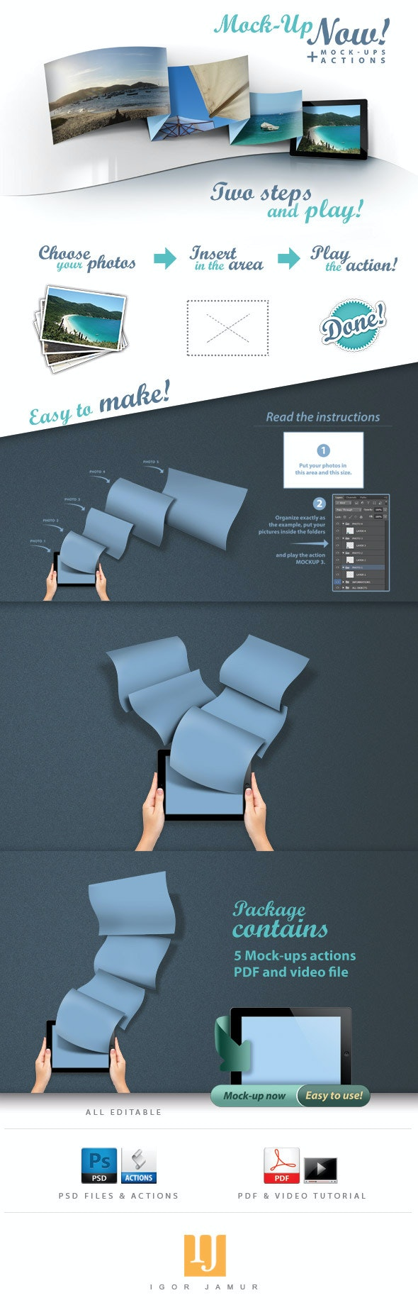 Mock-up Tablet Actions PSD - Add-ons