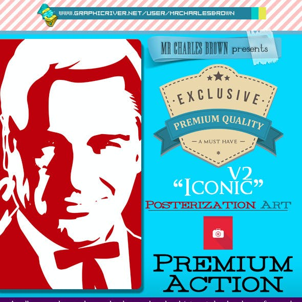Advance Iconic Posterization Action 2