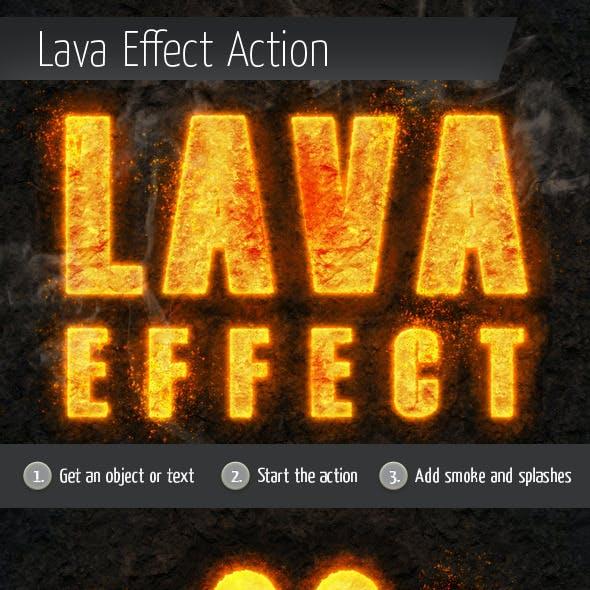 Lava Style Burning Effect