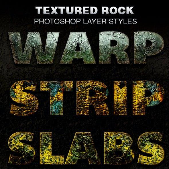 Textured Rock Photoshop Layer Styles