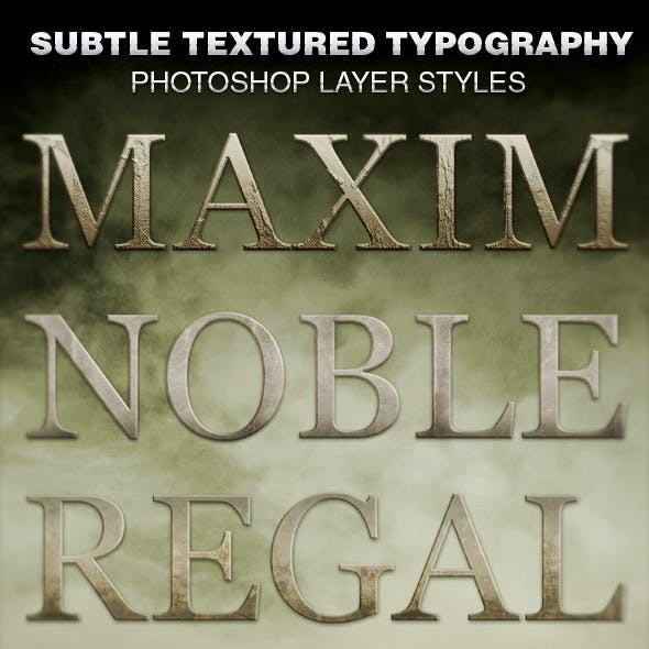 Subtle Textured Typography Photoshop Layer Styles